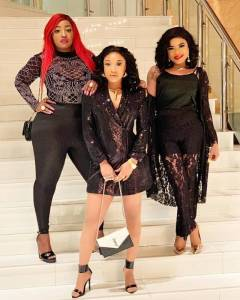 Ladies in Black!! Tonto Dikeh, Anita Joseph and Bobrisky all slay in black outfit (Photos)