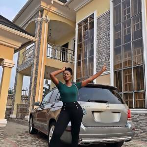 Congrats!!! Actress, Linda Osifo Shows Off Her Newly Acquired Mansion in Lekki (Photos)