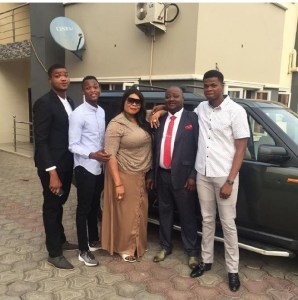Veteran Actress, Chinyere Wilfred, Husband And 3 Sons (Photos)