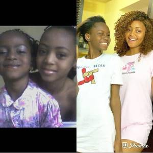 #10YearChallenge: Actress, Regina Daniels And Sister Destiny Throwback Photos