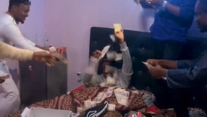 , Big Boys Wake Their Friends  With Money On His Birthday (Photos), Effiezy - Top Nigerian News & Entertainment Website