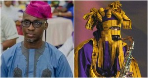 Lagbaja's Real Face Unveiled By Yoruba Actor On His Birthday (Photo)