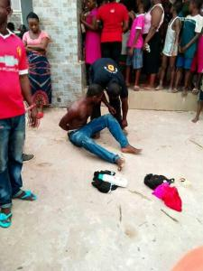 Man caught stealing panties in Benin, Edo State (Video)