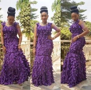 Actress, Oge Okoye Looks Gorgeous In Ruffle Dress