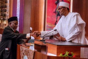 #Onnoghen: Photos of Buhari swearing in New Chief Justice of Nigeria, Mohammed Tanko