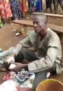 Pastor caught with bag filled with female pants and bra in Auchi, Edo state. (Photos)