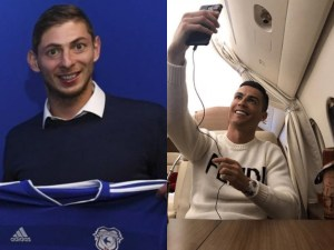#PrayForSala: Cristiano Ronaldo criticized for posting private jet selfie while plane carrying Emiliano Sala is still missing