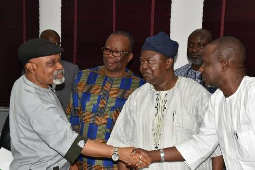 Check Out The Look ASUU Chairman Gave Chris Ngige After Reaching Agreement