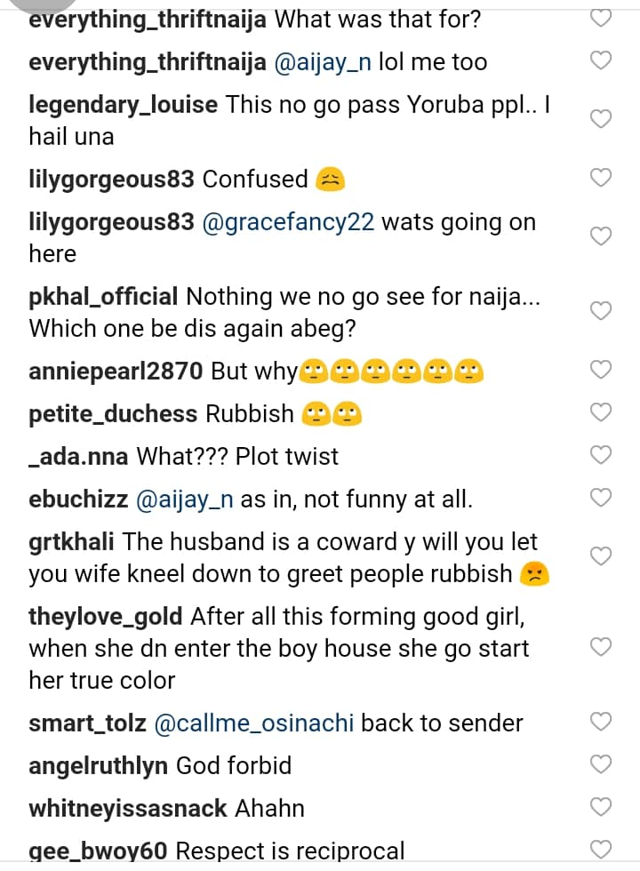 , Bride Blasted For Kneeling Down To Greet Guests At Her White Wedding (Photos), Effiezy - Top Nigerian News & Entertainment Website