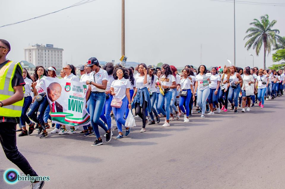 , Slay Queens Campaign For Wike In Port-Harcourt. (Photos), Effiezy - Top Nigerian News & Entertainment Website
