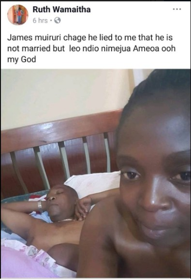 , Kenyan Lady Shares After-Sex Picture Of Her Married Lover In Bed, Effiezy - Top Nigerian News & Entertainment Website