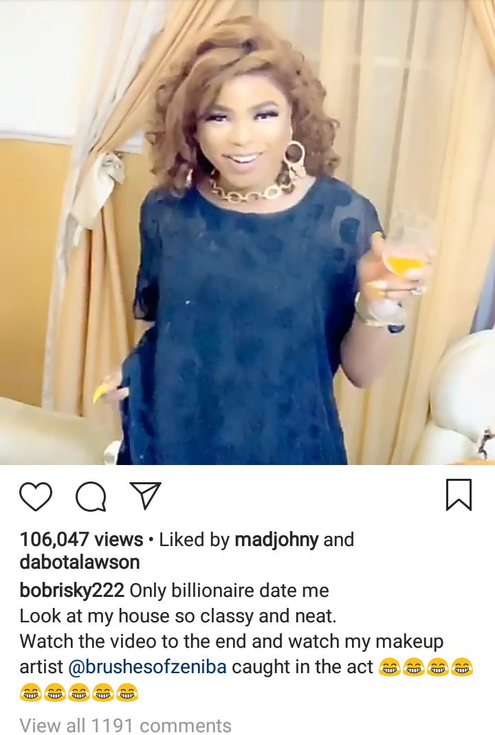 ", ""Only Billionaires Can Date Me"" – Nigerian Crossdresser, Bobrisky Reveals, Effiezy - Top Nigerian News & Entertainment Website"