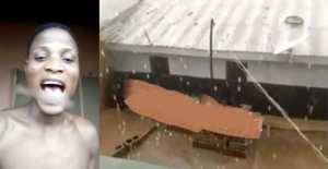 Residents excited as hailstones rain down from the sky in Lagos (Video)