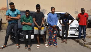 Yahoo Girls and Boys Arrested In Abuja With Their Benz (Photos)