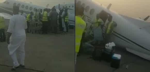 , Private Jet Overloaded With Bags of Cash Collapses (Video), Effiezy - Top Nigerian News & Entertainment Website
