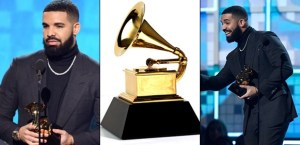 #GRAMMY: Drake's Mic Cut During Acceptance Speech For Shading The Producers (Video)