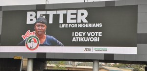 Atiku Abubakar steals woman's image for his campaign adverts across the country