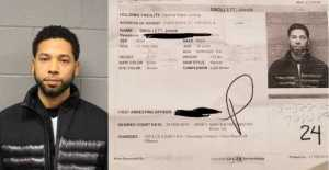Jussie Smollett's mugshot released as police berate him for staging an attack on himself for publicity (video)