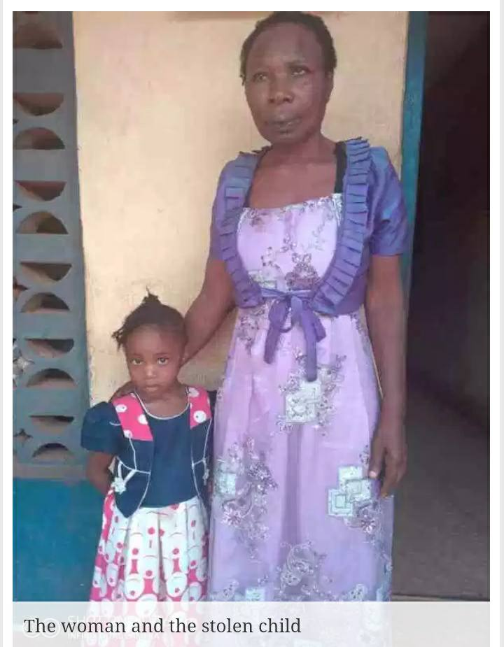 , Photo: 55 Years Old Woman Arrested While Dedicating Stolen Child In Enugu Church, Effiezy - Top Nigerian News & Entertainment Website