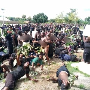 Women protest naked over incessant killing in Kaduna.