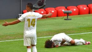 Real Madrid's Marcelo could miss rest of season due to injury.