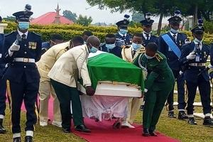 Tears flowed as Nigeria's first flying officer Tolulope Arotile is laid to rest.