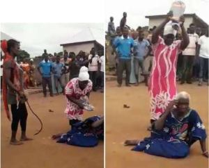 5 persons arrested for the killing of 90 year old woman accused of being a witch (Video – Viewers Discretion)