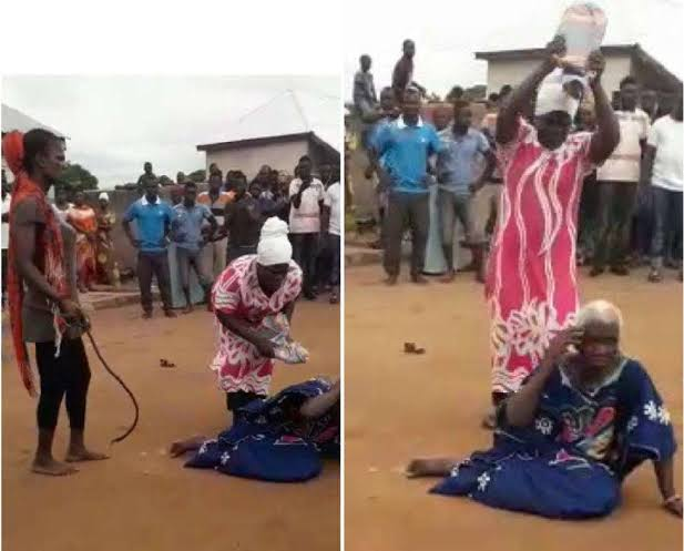 , 5 persons arrested for the killing of 90 year old woman accused of being a witch (Video – Viewers Discretion), Effiezy - Top Nigerian News & Entertainment Website