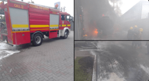 Fire destroys Access Bank, Victoria Island, Lagos (Video)