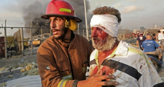 , Massive explosion leaves many dead, thousands wounded in Beirut (Video), Effiezy - Top Nigerian News & Entertainment Website