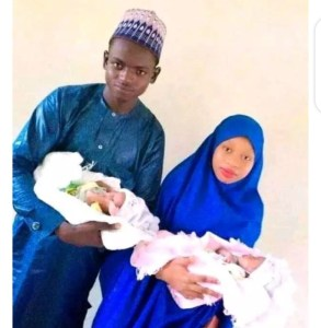 19 year Old Boy Who Married His 17 year Old Lover are blessed with twins