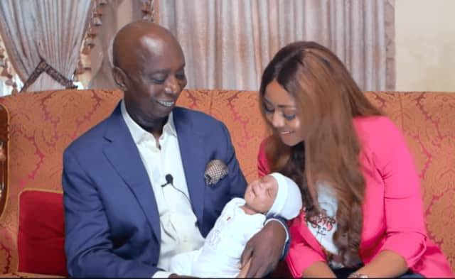 , Regina Daniels And Ned Nwoko Reveal Their Son's smiling Face (Video), Effiezy - Top Nigerian News & Entertainment Website