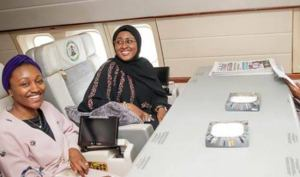 Nigerian reacts over the news of Aisha Buhari been flown abroad for neck pain