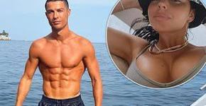 Cristiano Ronaldo displays his chiseled abs on £5.5million yacht