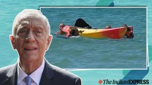 Portuguese President swims to rescue two women