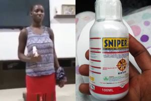 House Help Caught While Poisoning Her Madam's Drinking Water With Snipper