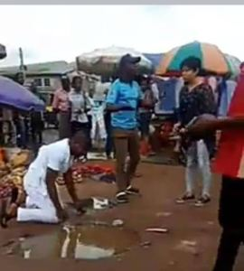 Man Cries Bitterly And Rolls In The Mud After Girlfriend Rejected His Marriage Proposal In Public (Video)