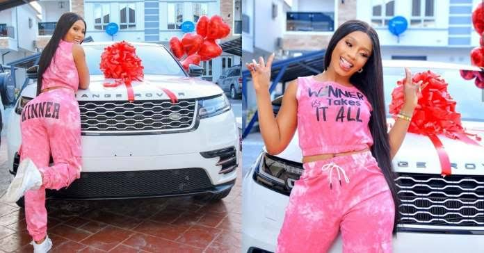Mercy Eke gifts herself Range Rover for her birthday