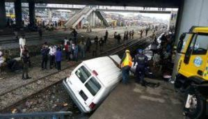 One dead, seven injured as two vehicles collide with train at PWD, Oshodi Lagos