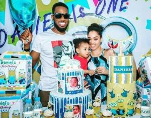 Proud dad D'banj, excited as son clocks one