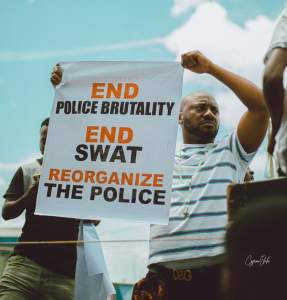 EndSWAT: Yul Edochie leads protest In Asaba (Photos + Video)