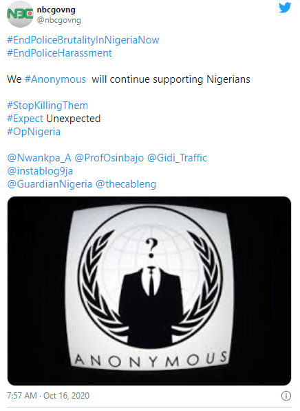 Anonymous hacks National Broadcasting Commission's Twitter account