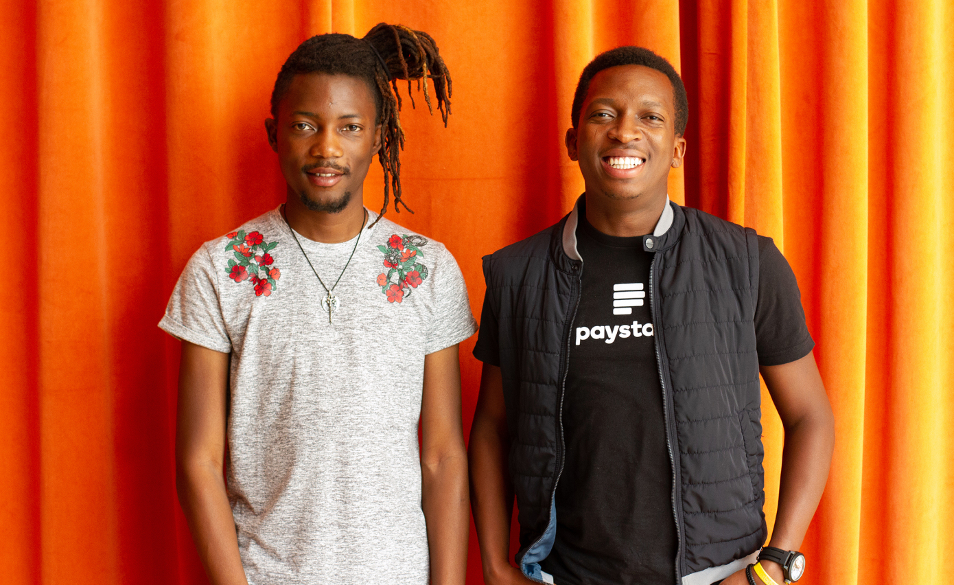 Paystack co-founders. Ezra Olubi (CTO & Co-founder) and Shola Akinlade (CEO & Co-founder)