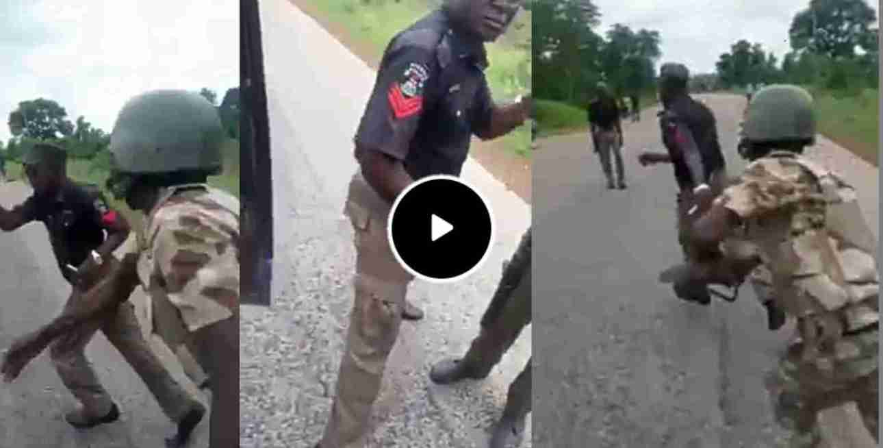 Soldiers Beat Policemen Extorting Motorists, Cyclists On Aba Road