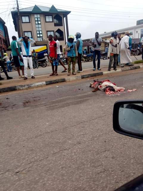Truck crushes groom's legs a day after his wedding in Kwara as guest dies1