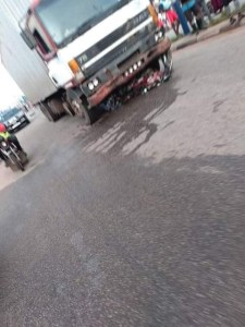 Sad! Truck crushes groom's legs a day after his wedding in Kwara as guest dies (Graphic photo)