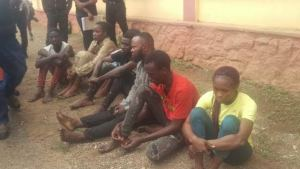 Seven paraded for allegedly stealing N1.5m from bank account in Ogun