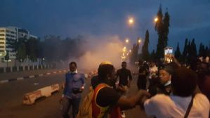 EndSARS protesters at police HQ dispersed with teargas