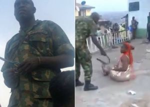 Operation Burst: Soldiers who was videoed assaulting a lady in Oyo State Have allegedly been arrested