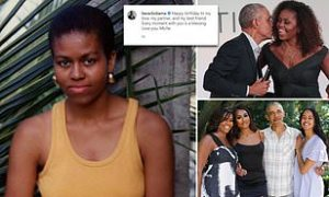 Barack Obama pays tribute to 'best friend' Michelle on her 57th birthday with sweet throw-back photo